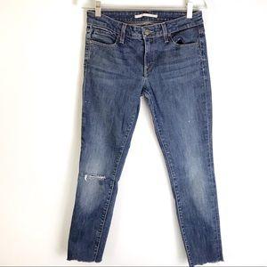 VINCE Distressed Skinny Jeans